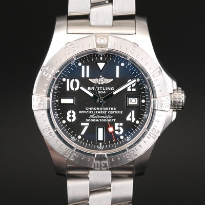 Breitling Avenger Seawolf Stainless Steel Automatic Wristwatch