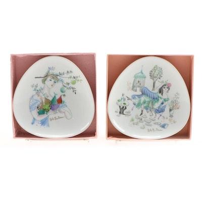 Bele Bachem for Rosenthal Porcelain Trinket Dishes, Mid-20th Century