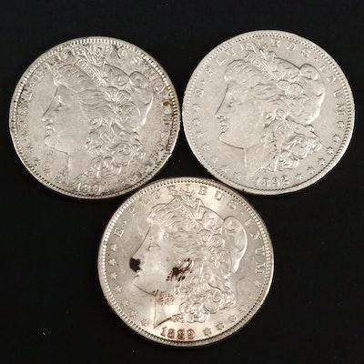 1889, 1891 and 1892-O Morgan Silver Dollars