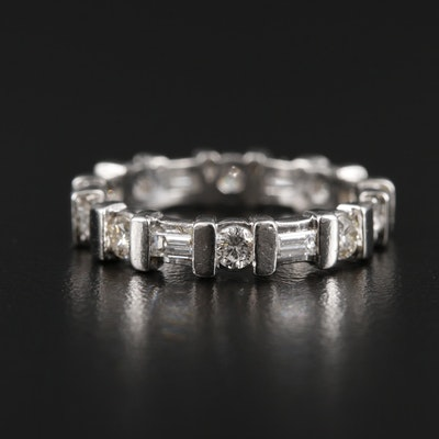 Platinum 1.09 CTW Diamond Eternity Ring