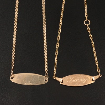 14K Yellow Gold ID Bracelets