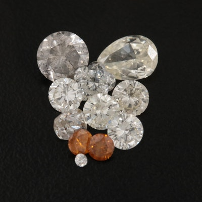 Loose 3.59 CTW Diamond Gemstones