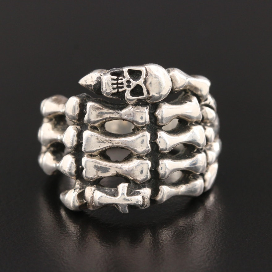 Sterling Silver Skeletal Hand Ring