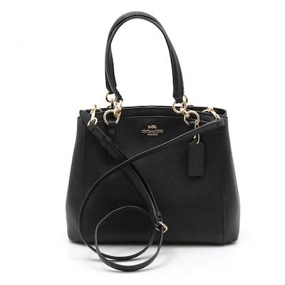 Coach Minetta Saffiano Leather Crossbody Bag in Black