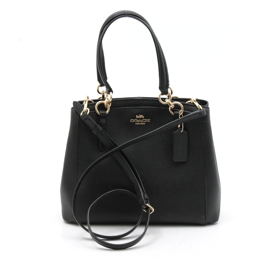 Coach Minetta Saffiano Leather Crossbody Bag in Black
