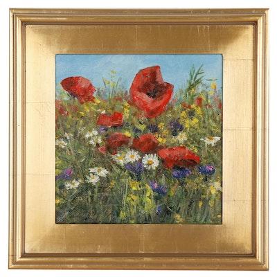 "Garncarek Aleksander Oil Painting ""Polne Kwiaty"""