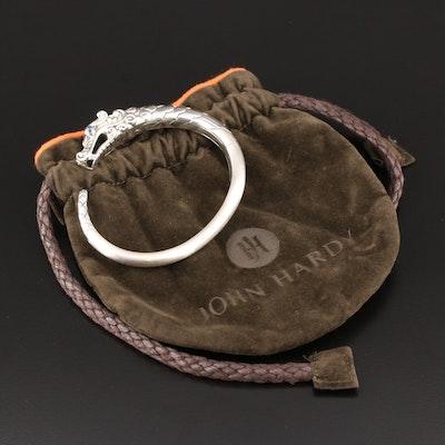 "John Hardy ""Legends Naga"" Sterling Silver Sapphire Cuff Bracelet"