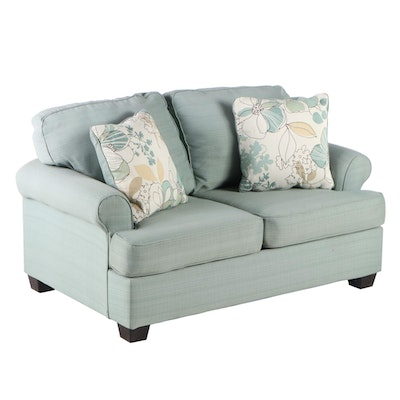 Ashley Furniture Light Blue Upholstered Loveseat