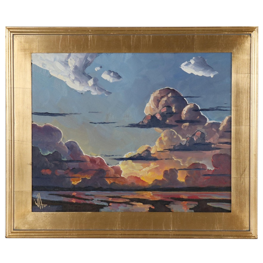 William Hawkins Skyscape Oil Painting