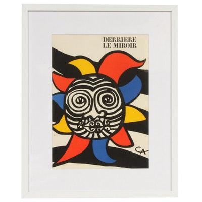 "Alexander Calder Color Lithograph Cover for ""Derrière le Miroir,"" 1966"