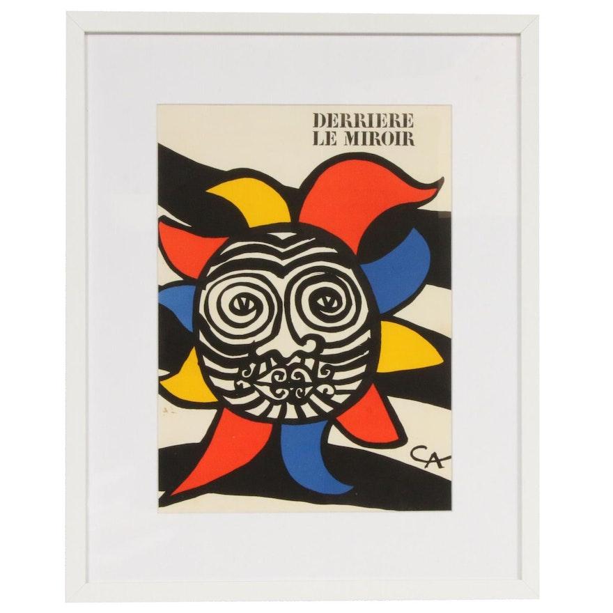 """Alexander Calder Color Lithograph Cover for """"Derrière le Miroir,"""" 1966"""