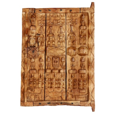 African Dogon Carved Granary Door