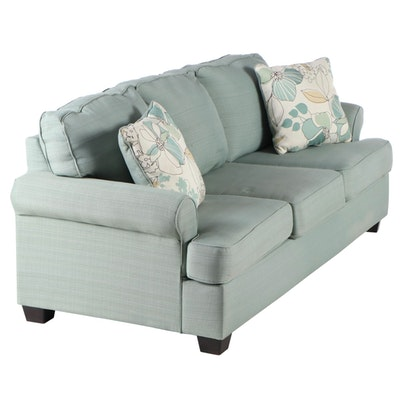 Ashley Furniture Light Blue Upholstered Sofa