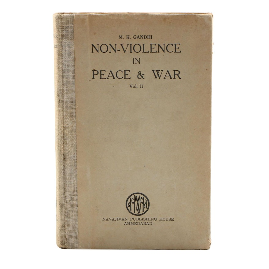 "1949 First Edition ""Non-violence in Peace & War: Volume II"" by M. K. Gandhi"