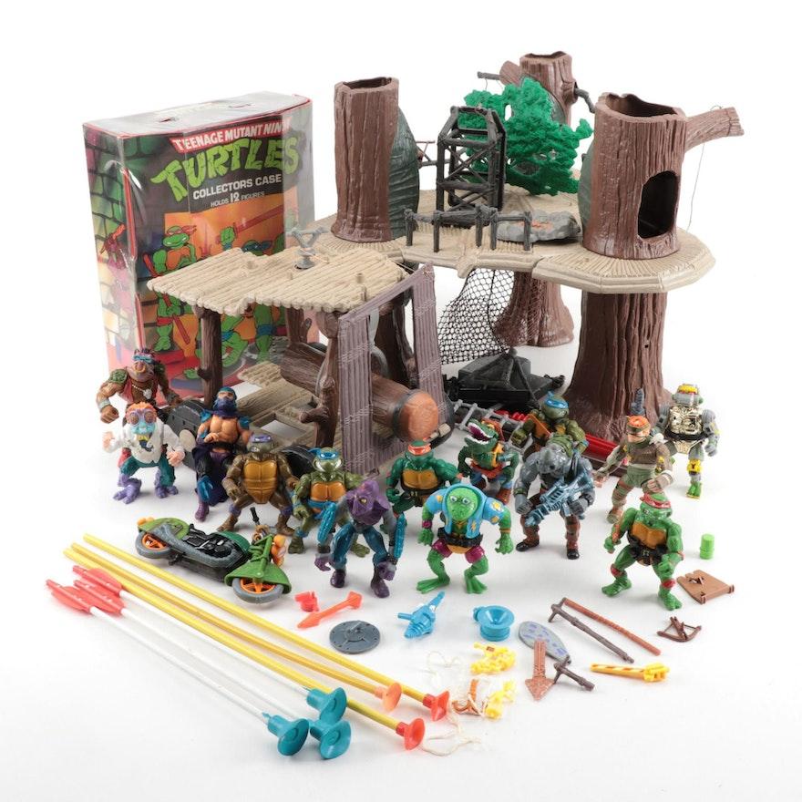 Teenage Mutant Ninja Turtles Action Figures, Playset, and Storage Case, 1988