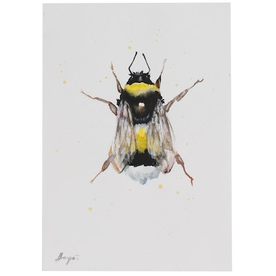 Anne Gorywine Watercolor Painting of Bee