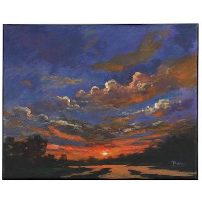 "Douglas ""Bumo"" Johnpeer Oil Painting ""Three Rivers"""