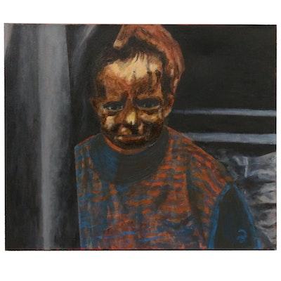 "Zofia Wilamowska Acrylic Painting ""Scared"""
