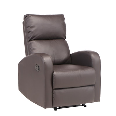 Vinyl Upholstered Manual Recliner Chair