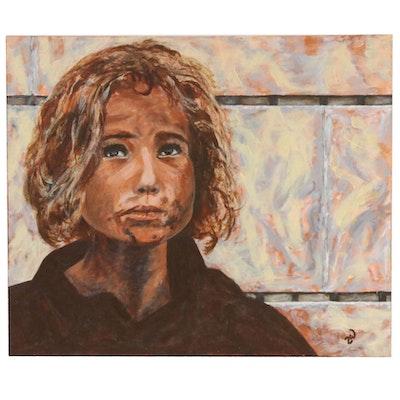 "Zofia Wilamowska Acrylic Painting ""But Alive"""
