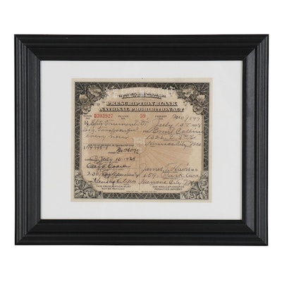 Prohibition Era Prescription for Medicinal Liquor, 1928