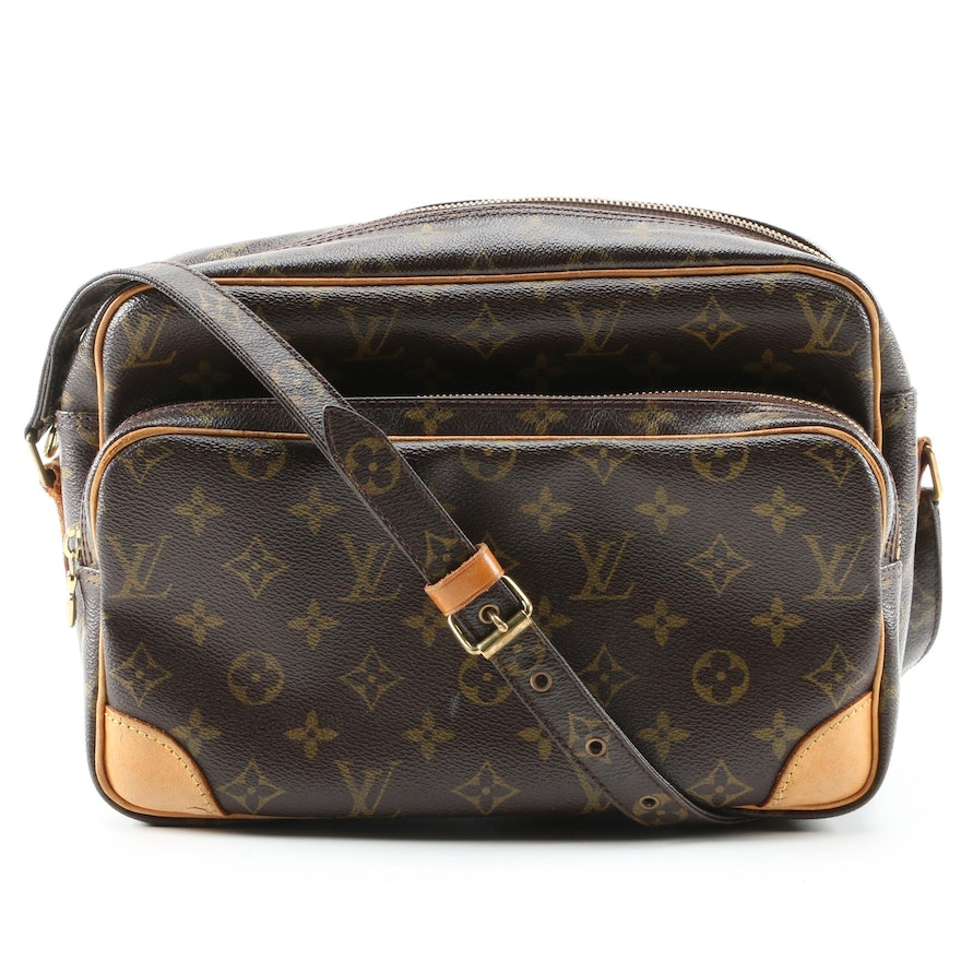 Louis Vuitton Nile Crossbody Bag in Monogram Canvas and Vachetta Leather