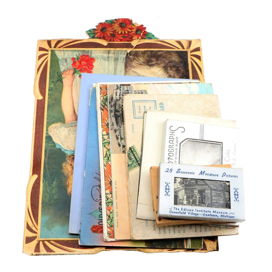 Souvenir Travel Postcards and Miniature Photographs