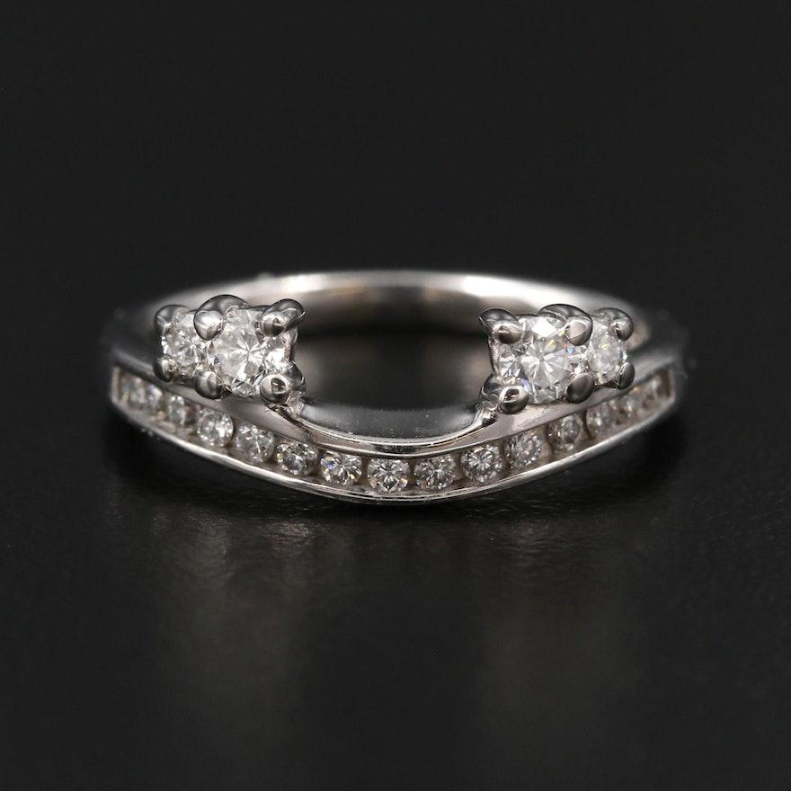 14K White Gold Diamond Ring Jacket