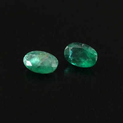 Loose 0.96 CTW Emerald Gemstones
