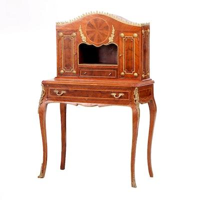 Louis XV Style Veneered Escritoire / Desk, Late 20th Century