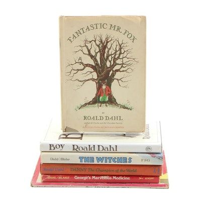 "Roald Dahl Book Collection featuring First Printing ""The Enormous Crocodile"""