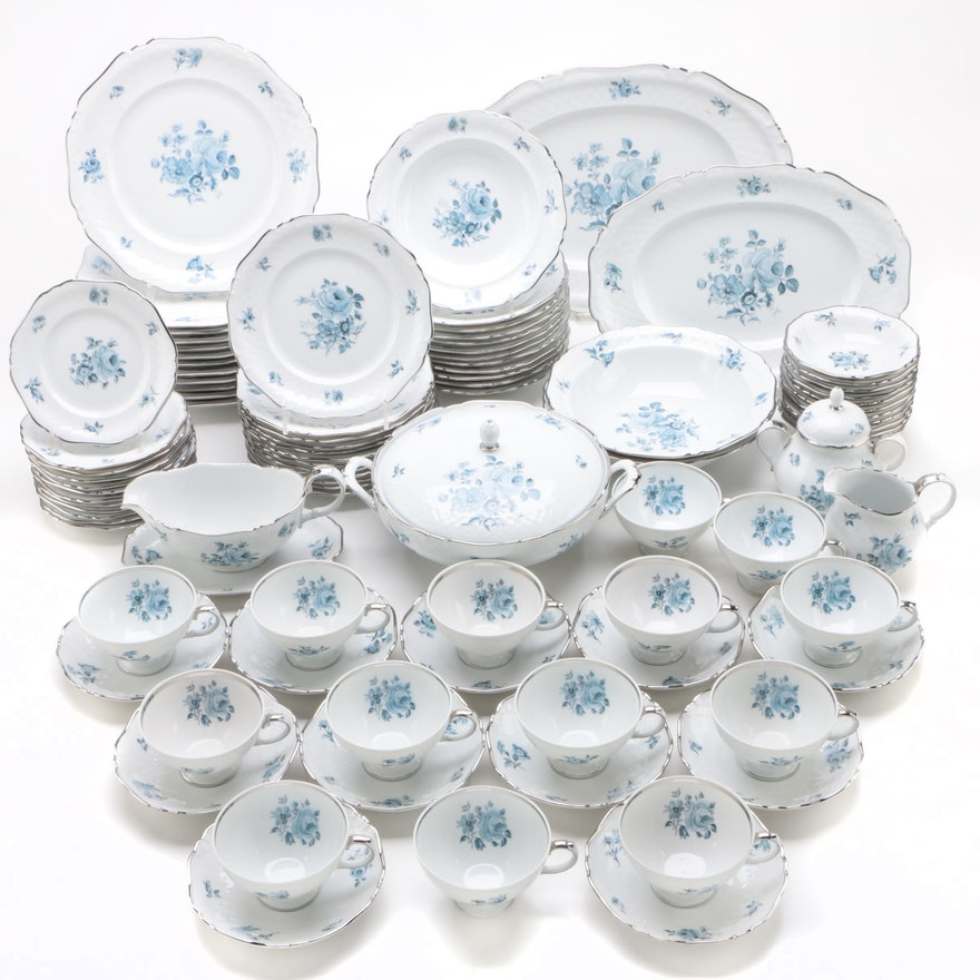 Royal Princess Floral Porcelain Dinnerware and Serving Pieces