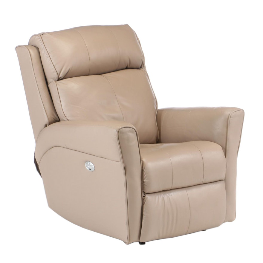 Southern Motion Vinyl Upholstered Electric Recliner