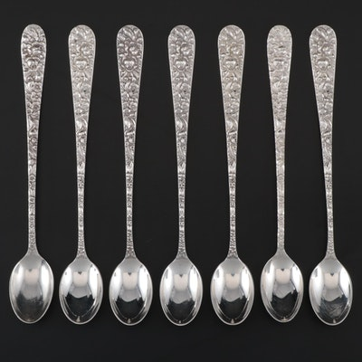 "Kirk-Stieff Sterling Silver ""Stieff Rose"" Iced Tea Spoons"