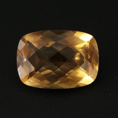 Loose 12.31 CT Citrine Gemstone