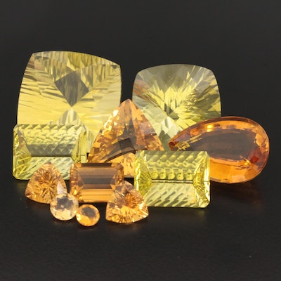 Loose 142.90 CTW Citrine Gemstones