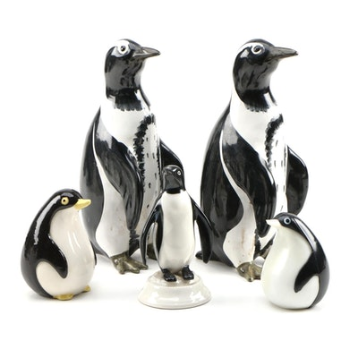 Towle Silver Plate Penguin Salt & Pepper Shakers and Other Penguin Collectibles