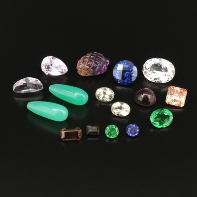 Loose 88.37 CTW Gemstones Including Tsavorite, Kunzite, Labradorite and More