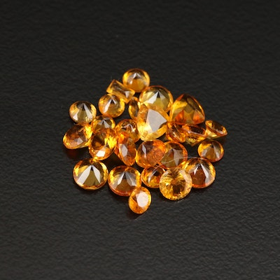 Loose 4.75 CTW Clinohumite Gemstones