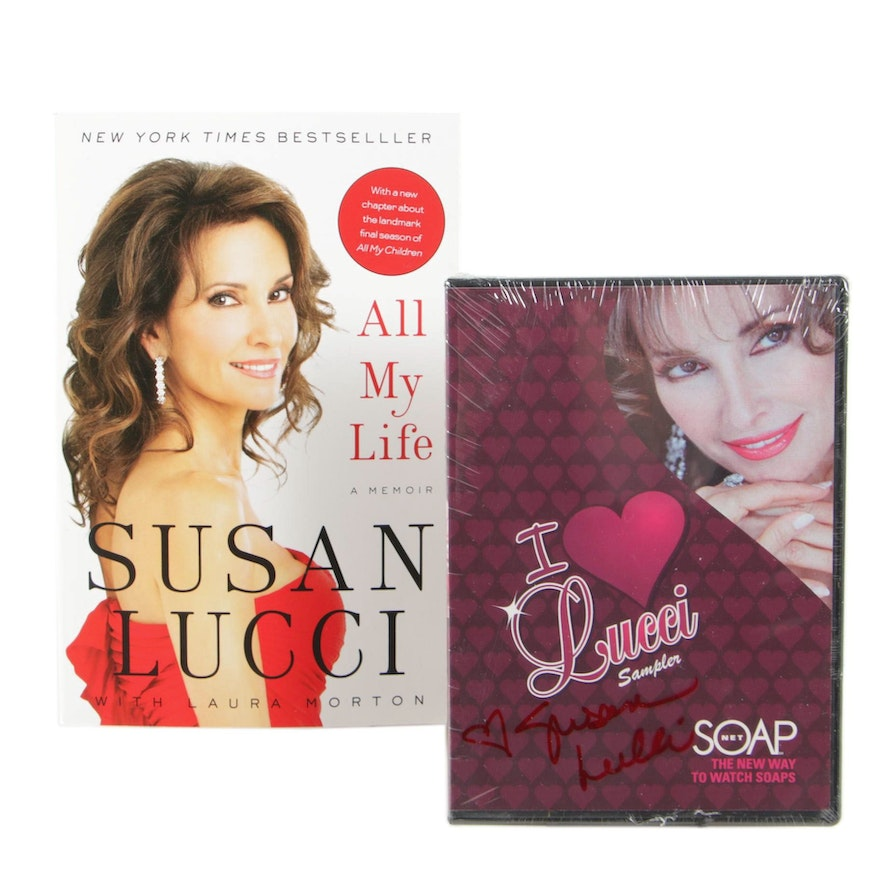 "Susan Lucci Signed Book ""All My Life: A Memoir"" and  DVD ""I Love Lucci Sampler"""