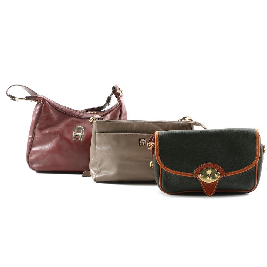 Dooney & Bourke and Etienne Aigner Leather Shoulder Bags