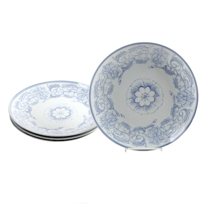 Chinese Blue on White Floral Porcelain Dinnerware