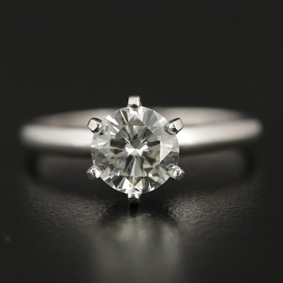 Platinum 1.16 CT Diamond Solitaire Ring