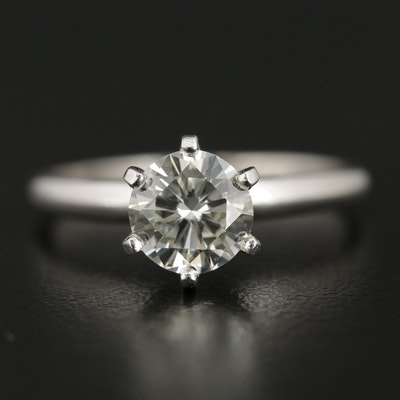 Platinum 1.16 CT Diamond Solitaire Ring