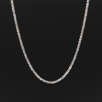 14K White Gold Sparkle Chain Necklace