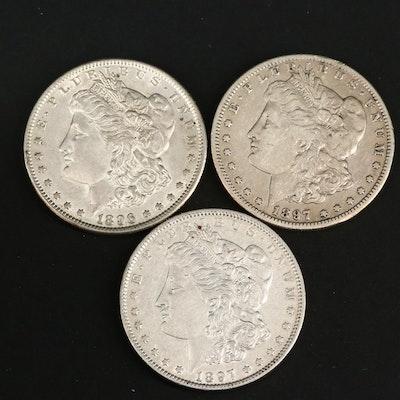 1896, 1897 and 1897-S Morgan Silver Dollars