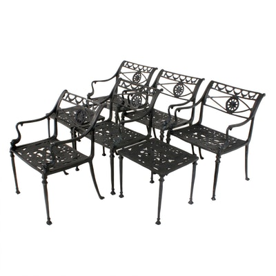 Cast Iron Garden Chairs and Side Tables