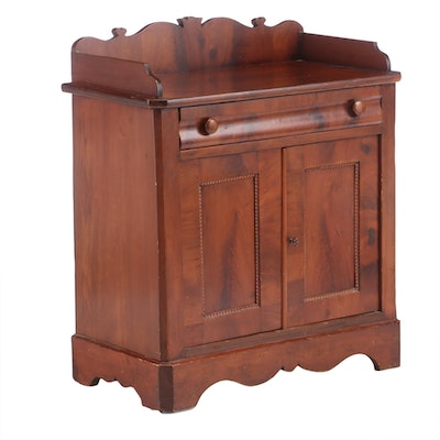 American Classical Mahogany Washstand, Mid-19th Century