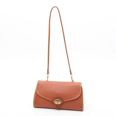 Dooney & Bourke All-Weather Leather Flap Front Shoulder Bag