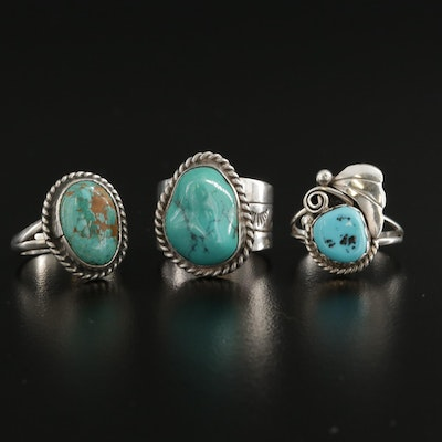 Southwestern Sterling Silver Turquoise Rings
